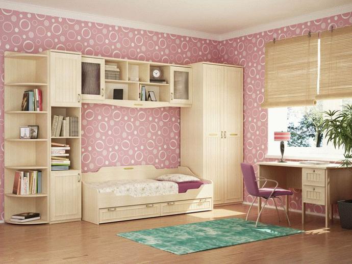 варианты детской комнаты для девочки