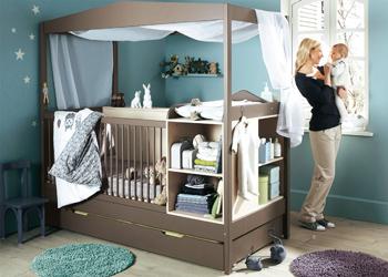 детские кроватки для новорожденных с пеленальным столиком