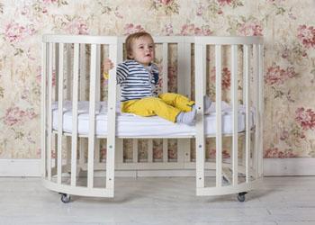 кроватка трансформер круглая 5 в 1