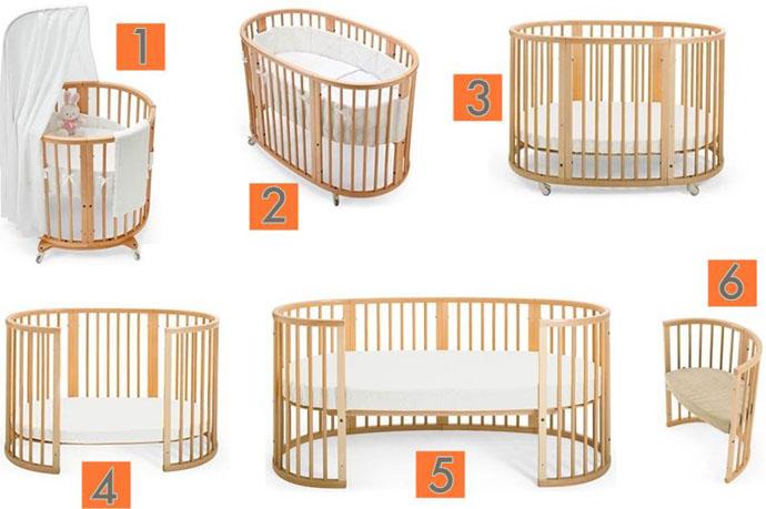детские кроватки трансформеры для новорожденных