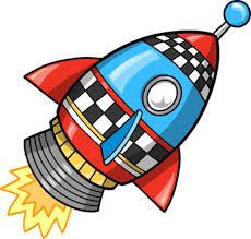 нарисованная ракета для игры с ребенком 4-5 лет