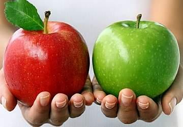 красные и зеленые яблоки при грудном вскармливании