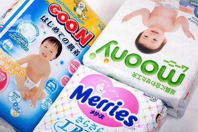 японские подгузники для новорожденных
